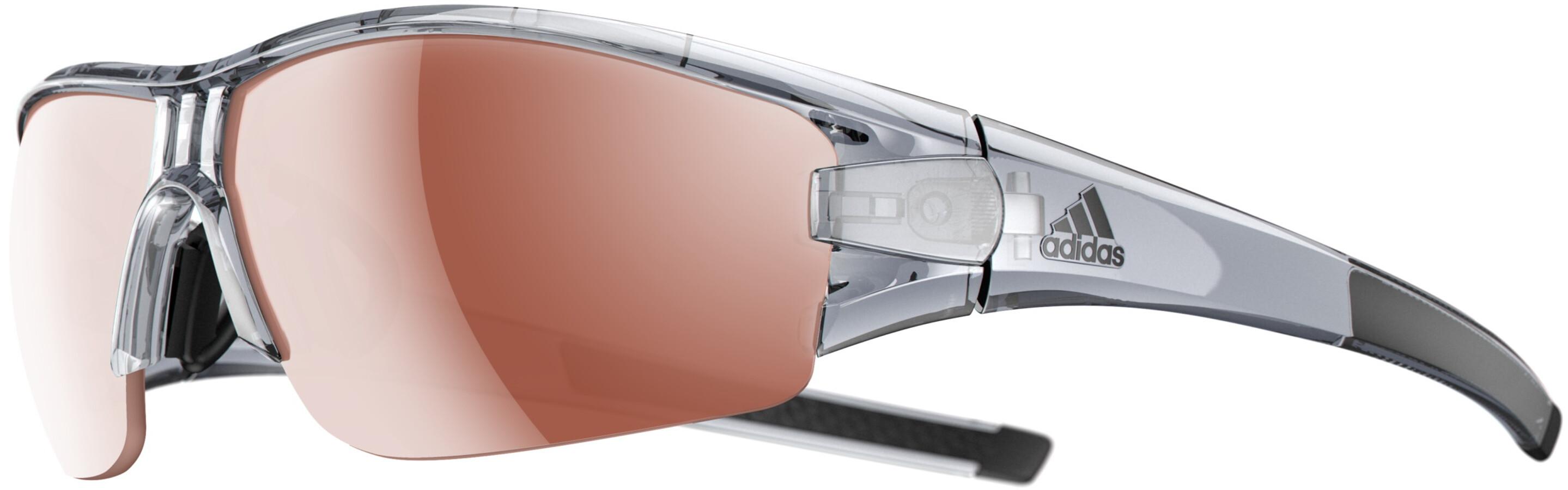 3a12ac91a8a adidas Evil Eye Halfrim - Lunettes cyclisme - gris marron - Boutique ...